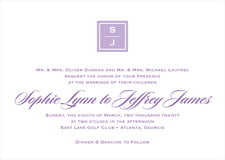 custom invitations - lilac - vida (set of 10)