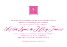 custom invitations - bright pink - vida (set of 10)