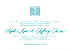 custom invitations - aruba - vida (set of 10)