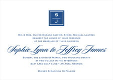 custom invitations - deep blue - vida (set of 10)