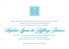custom invitations - sky - vida (set of 10)