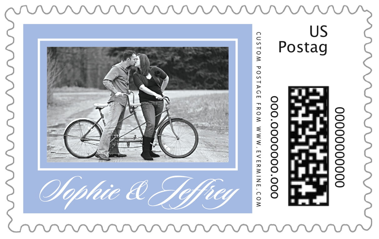 custom large postage stamps - periwinkle - vida (set of 20)