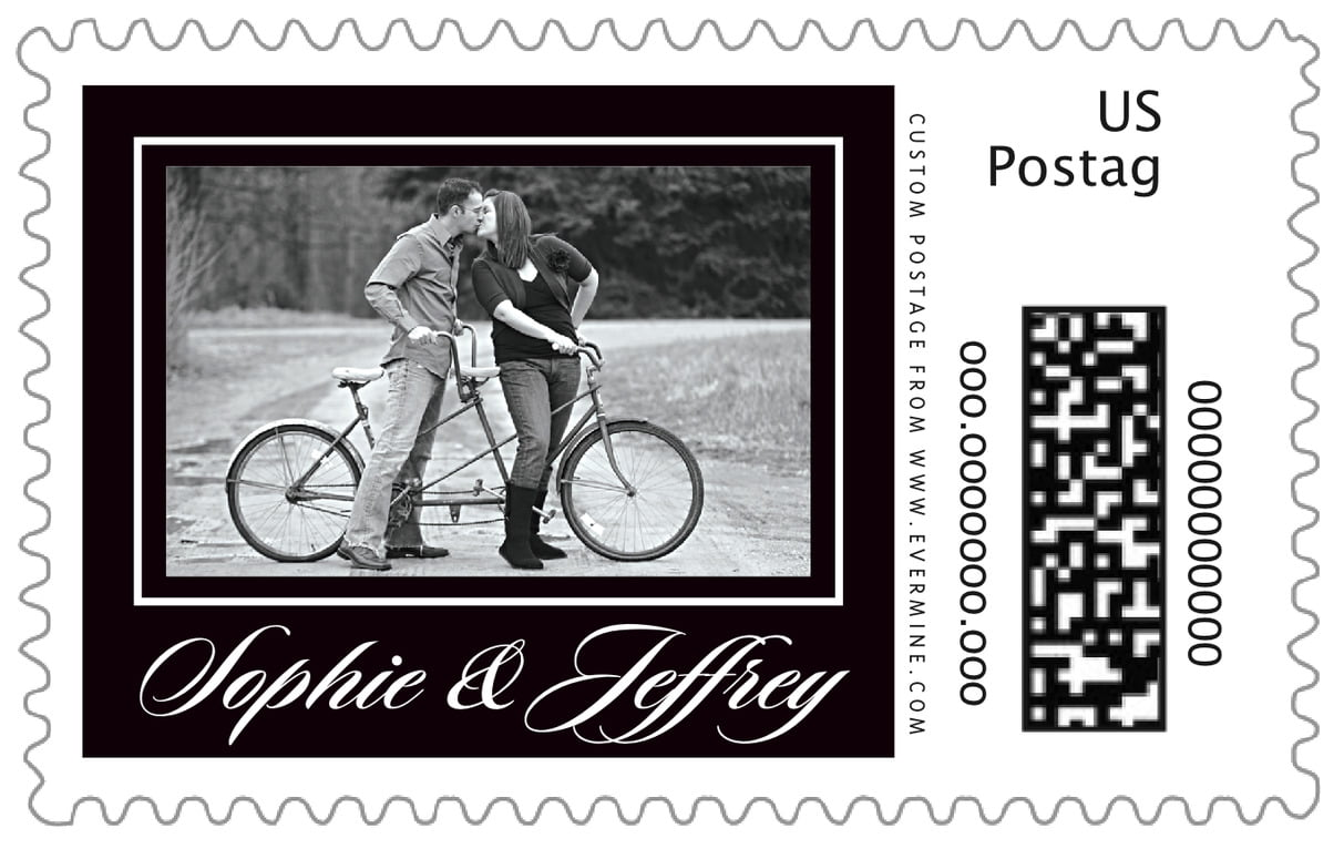 custom large postage stamps - tuxedo - vida (set of 20)