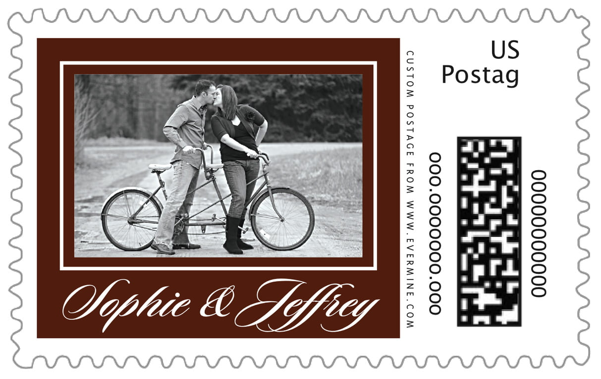 custom large postage stamps - chocolate - vida (set of 20)