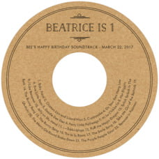 Vintage Kraft cd labels