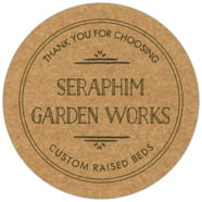 Vintage Kraft large circle labels