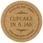 Vintage Kraft circle labels