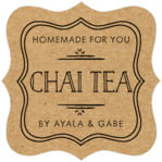 Vintage Kraft fancy square labels