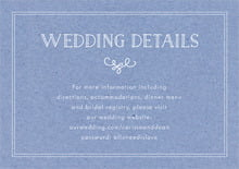 custom enclosure cards - kraft periwinkle - vintage kraft (set of 10)