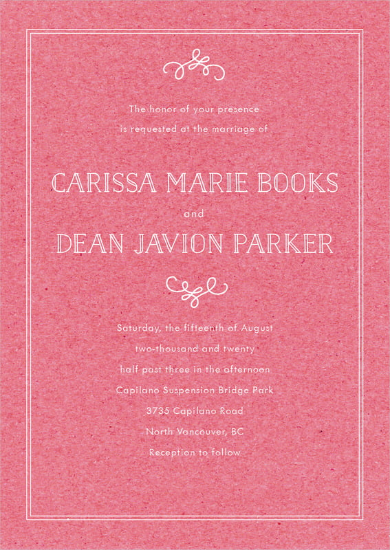 custom invitations - kraft grapefruit - vintage kraft (set of 10)