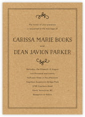 Vintage Kraft invitations