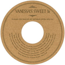 Vintage Kraft Cd Label In Kraft Basic