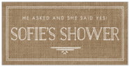 Vintage Burlap rectangle labels