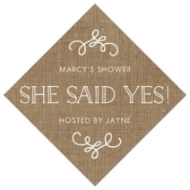 Vintage Burlap diamond labels