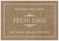 Vintage Burlap wide rectangle labels
