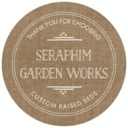 Vintage Burlap large circle labels
