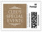 Vintage Burlap business postage stamps
