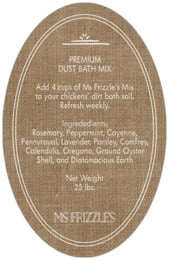Vintage Burlap oval text labels