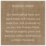 Vintage Burlap square text labels