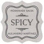 Vintage Burlap fancy square labels