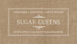 Vintage Burlap business cards