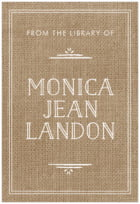 Vintage Burlap large bookplates