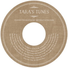 Vintage Burlap wedding CD/DVD labels