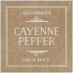 Vintage Burlap Square Label In Burlap Basic