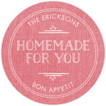 Vintage Burlap circle labels