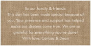 Vintage Burlap rectangle text labels