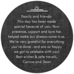 Vintage Burlap circle text label