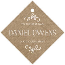 Vintage Burlap Diamond Hang Tag In Burlap Basic