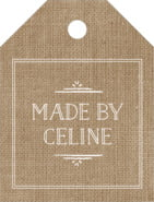 Vintage Burlap small luggage tags
