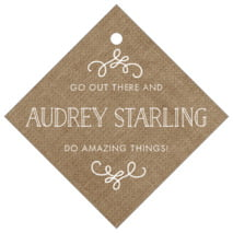 Vintage Burlap diamond hang tags