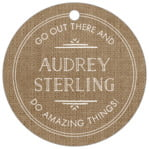 Vintage Burlap circle hang tags