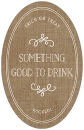 Vintage Burlap tall oval labels