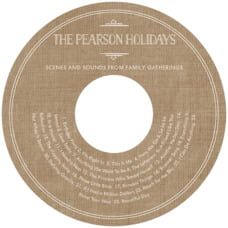 Vintage Burlap Cd Label In Burlap Basic