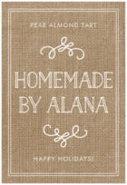 Vintage Burlap tall rectangle labels