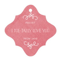Vintage Burlap fancy diamond hang tags