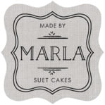 Vintage Burlap Fancy Square Label In Burlap Stone
