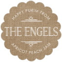 Vintage Burlap scallop labels