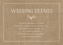 custom enclosure cards - burlap basic - vintage burlap (set of 10)