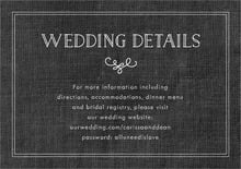 custom enclosure cards - burlap tuxedo - vintage burlap (set of 10)
