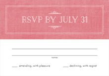 custom response cards - burlap grapefruit - vintage burlap (set of 10)