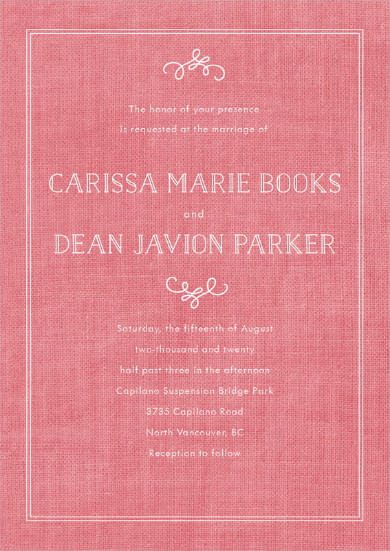 custom invitations - burlap grapefruit - vintage burlap (set of 10)