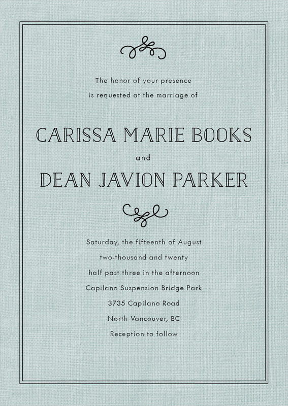 custom invitations - burlap seaglass - vintage burlap (set of 10)