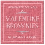 Vintage Burlap valentine's day labels