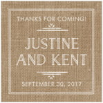 Vintage Burlap square labels