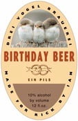 Vorarlberg birthday beer labels
