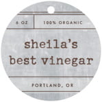 Vintage Unfiltered Circle Hang Tag In Shale